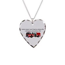 Autism firetruck Necklace