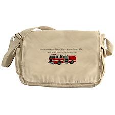 Autism firetruck Messenger Bag