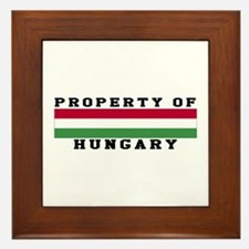 Property Of Hungary Framed Tile