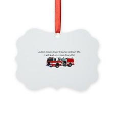 Autism firetruck Ornament