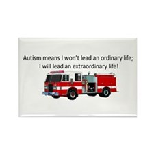 Autism firetruck Rectangle Magnet