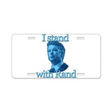 I STAND WITH RAND Aluminum License Plate