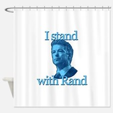 I STAND WITH RAND Shower Curtain