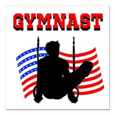 "ALL AROUND GYMNAST Square Car Magnet 3"" x 3"""
