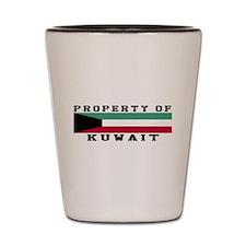 Property Of Kuwait Shot Glass