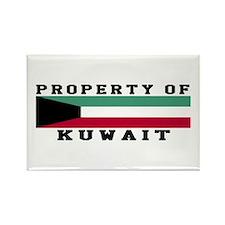 Property Of Kuwait Rectangle Magnet