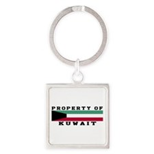 Property Of Kuwait Square Keychain