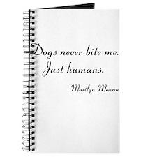 Humans bite Marilyn Monroe Journal