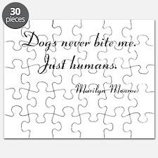 Humans bite Marilyn Monroe Puzzle