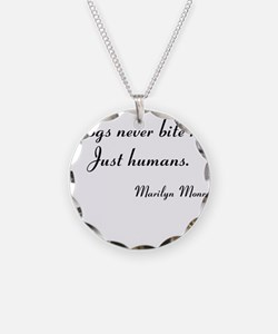 Humans bite Marilyn Monroe Necklace