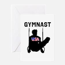 STAR GYMNAST Greeting Card