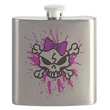 Girly Skull Flask