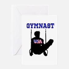 #1 GYMNAST Greeting Card