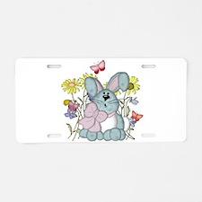 Surprised Bunny Aluminum License Plate