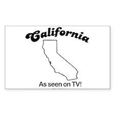 CALIFORNIA: As seen on TV Rectangle Decal