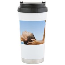 Woman getting a head massage fr Travel Mug