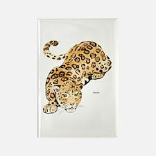 Jaguar Big Cat Rectangle Magnet