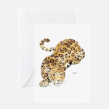 Jaguar Big Cat Greeting Card