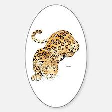 Jaguar Big Cat Sticker (Oval)