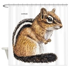 Chipmunk Animal Shower Curtain