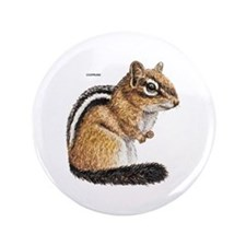 "Chipmunk Animal 3.5"" Button"