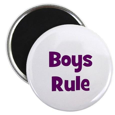 boys rule Magnet