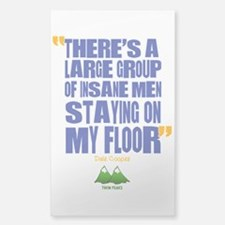 Twin Peaks Insane Men Quote Decal