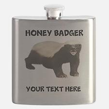 Custom Honey Badger Flask