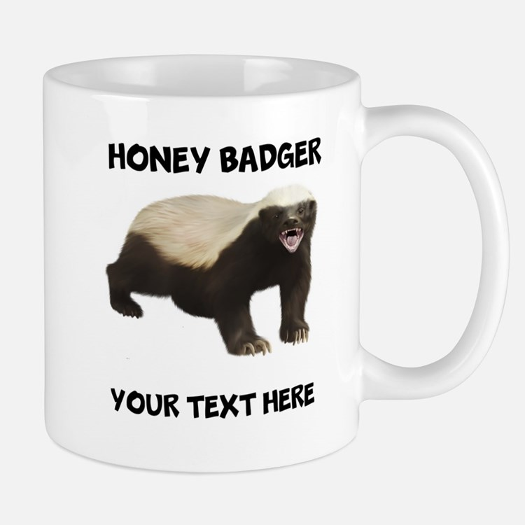 Custom Honey Badger Small Mugs