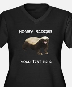 Custom Honey Badger Plus Size T-Shirt