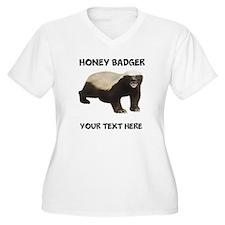Custom Honey Badger Plus Size T-Shirt