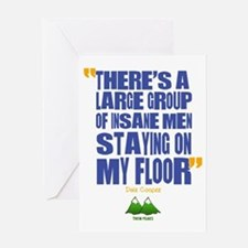 Twin Peaks Insane Men Quote Greeting Card