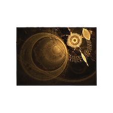 Golden Clock 5'x7'Area Rug