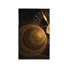 Golden Clock 3'x5' Area Rug