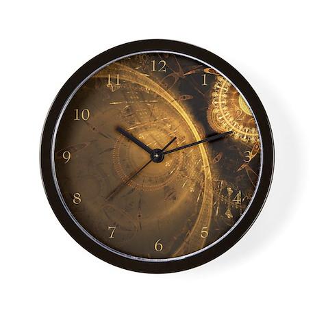 Golden Clock Wall Clock