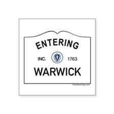 "Warwick Square Sticker 3"" x 3"""