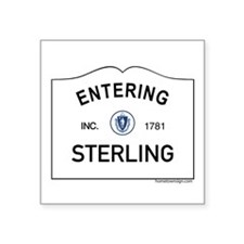 "Sterling Square Sticker 3"" x 3"""