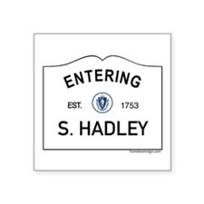 "South Hadley Square Sticker 3"" x 3"""