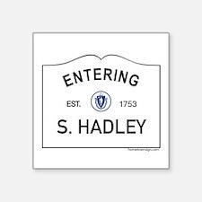 """South Hadley Square Sticker 3"""" x 3"""""""