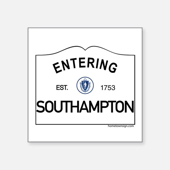 "Southampton Square Sticker 3"" x 3"""