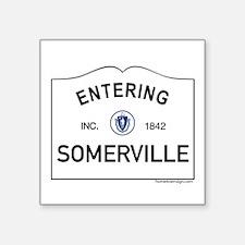 "Somerville Square Sticker 3"" x 3"""