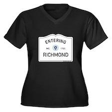Richmond Women's Plus Size V-Neck Dark T-Shirt
