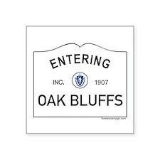 """Oak Bluffs Square Sticker 3"""" x 3"""""""
