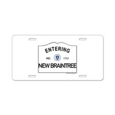 New Braintree Aluminum License Plate