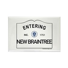 New Braintree Rectangle Magnet