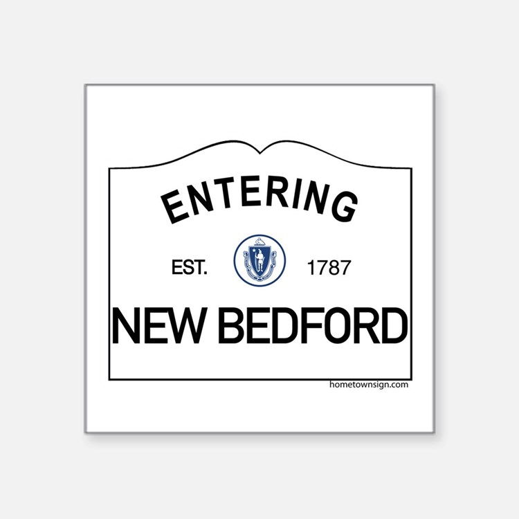 "New Bedford Square Sticker 3"" x 3"""
