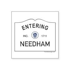"Needham Square Sticker 3"" x 3"""