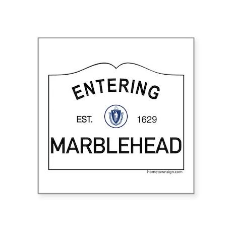 "Marblehead Square Sticker 3"" x 3"""