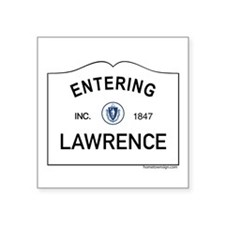 "Lawrence Square Sticker 3"" x 3"""