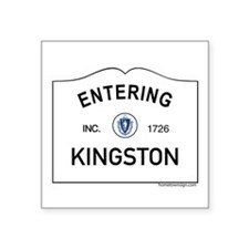 "Kingston Square Sticker 3"" x 3"""